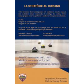 Formation sur la stratégie au curling